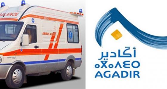 جماعة أكادير تخصص غلافا ماديا لدعم نقل المرضى المعوزين و نقل أموات المسلمين للحالات الإجتماعية بالمجان :