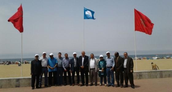 رسميا :شاطئ اكادير يرفع اللواء الأزرق